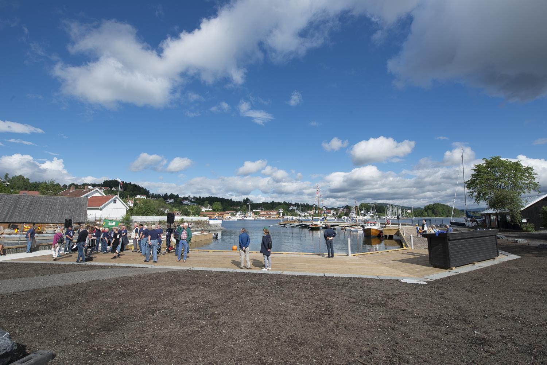 RETT UTENFOR: Den nye havnen ligger umiddelbart utenfor museet og danner en flott helhet sammen.